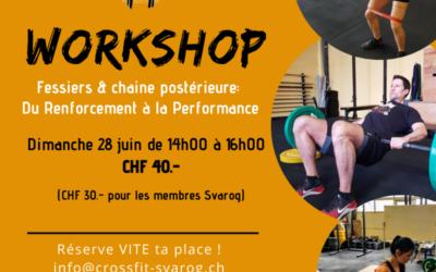 Workshop: Fessiers & Chaine posétrieure
